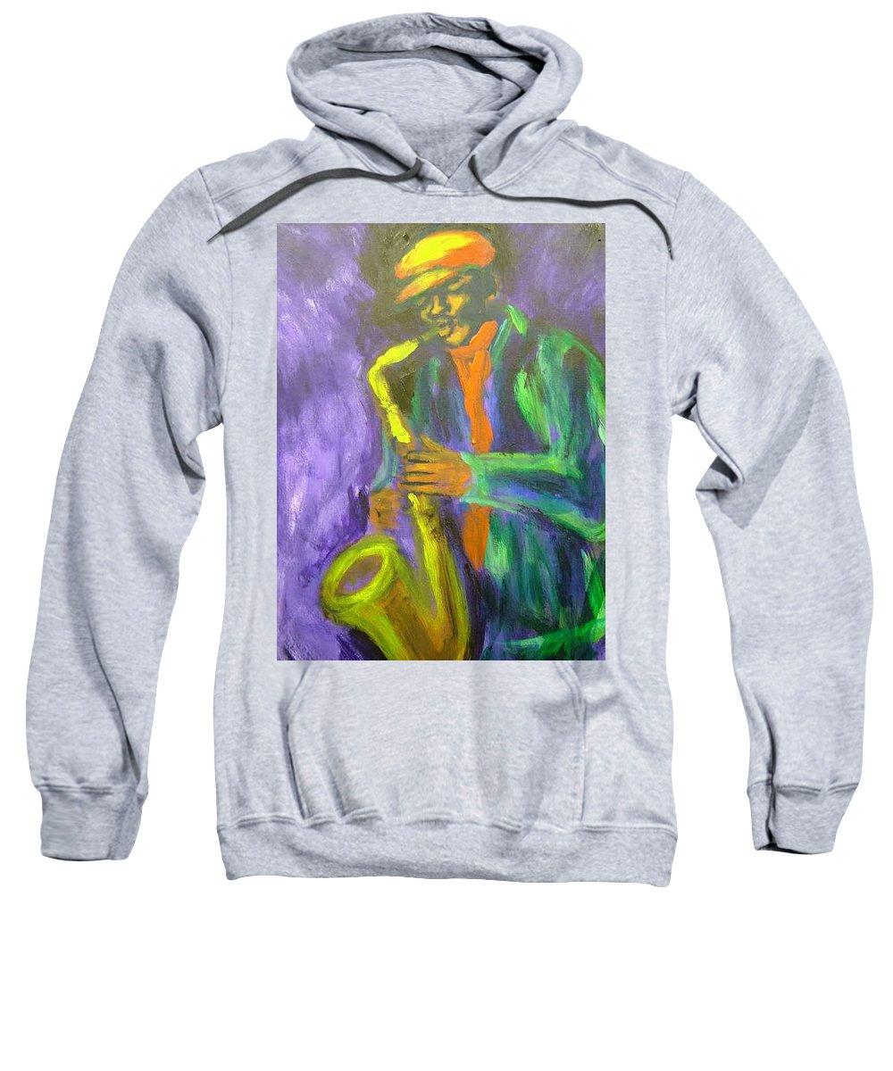 Painting Sweatshirt featuring the painting The M by Jan Gilmore