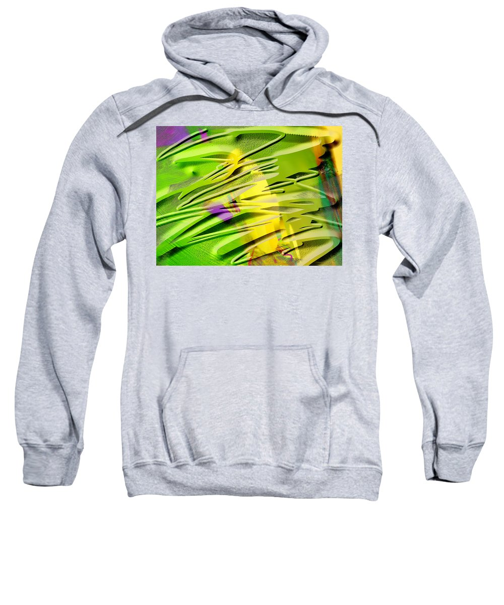 Scott Piers Sweatshirt featuring the painting P39b by Scott Piers