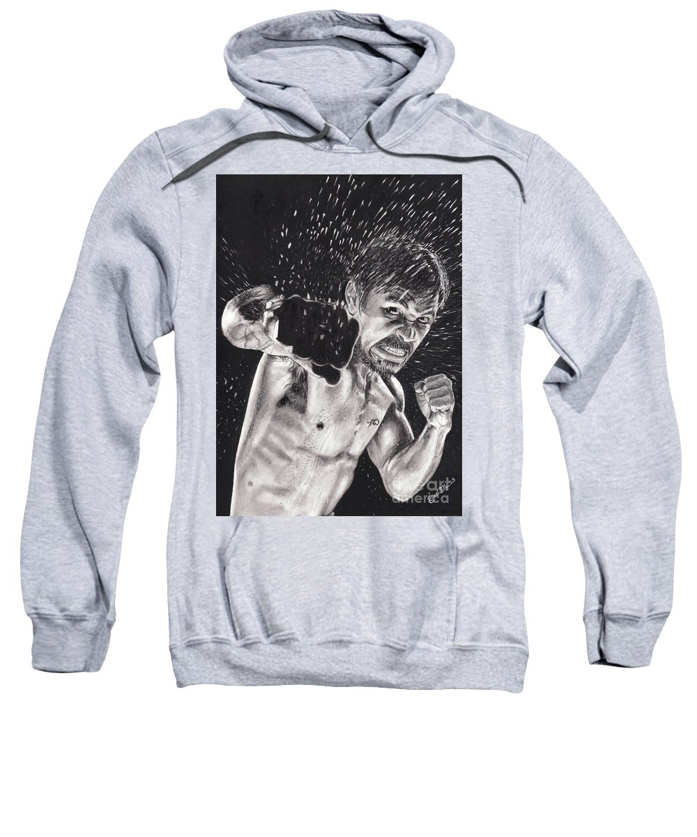 Manny Pacquiao Sweatshirt featuring the drawing Pac-man by Joshua Navarra