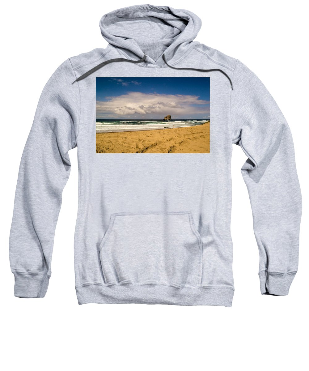 Pacific City Sweatshirt featuring the photograph Pacific City by Indecisivelykat Photography