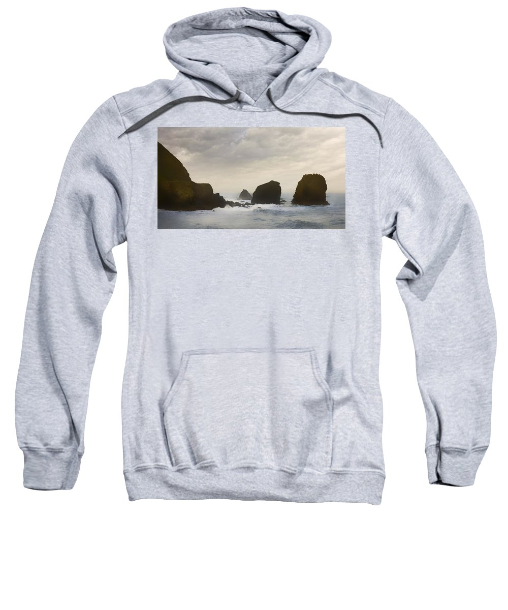 Ocean Sweatshirt featuring the photograph Pacifica Surf by John Hansen
