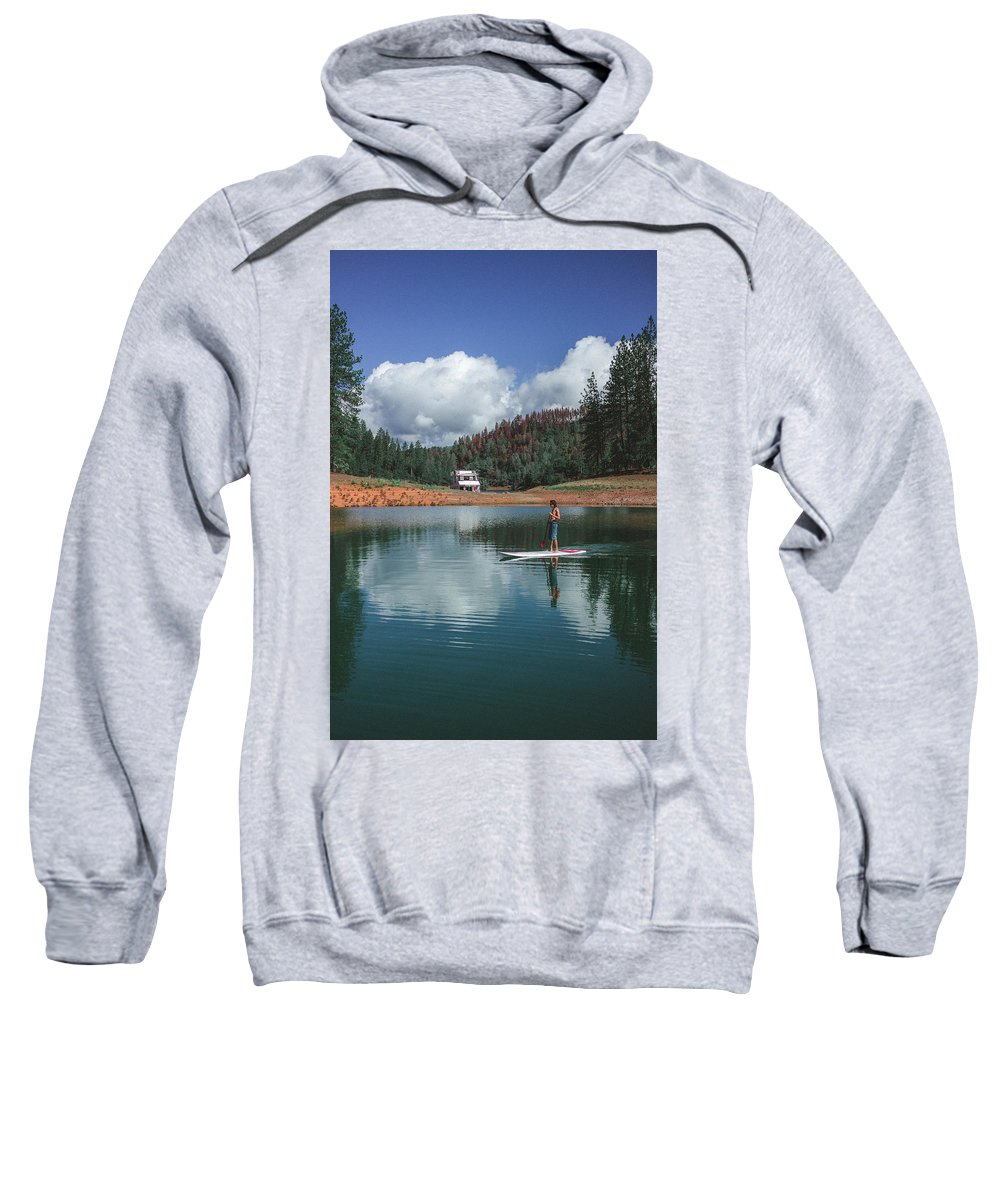 Sup Sweatshirt featuring the photograph Paddleboarding by Conner Koch