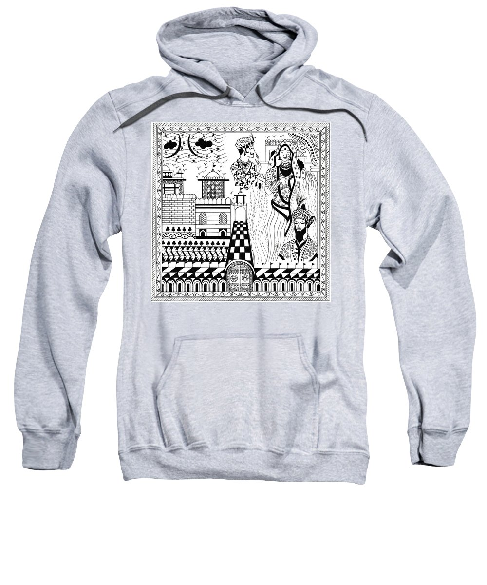 Padmini Sweatshirt featuring the painting Padmini by Amit Sanger