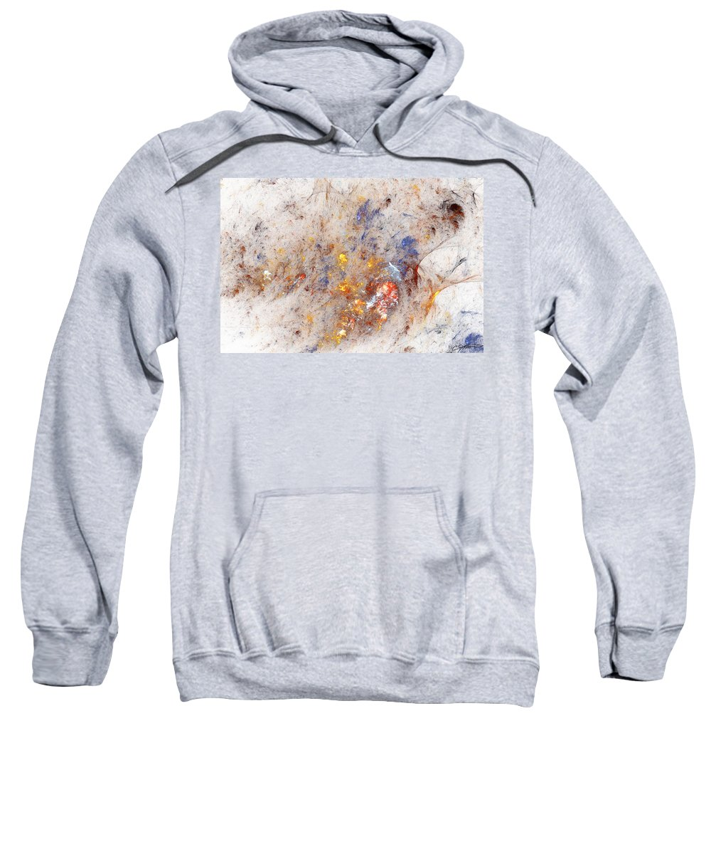 Abstract Sweatshirt featuring the digital art Paean To Pollack by Casey Kotas