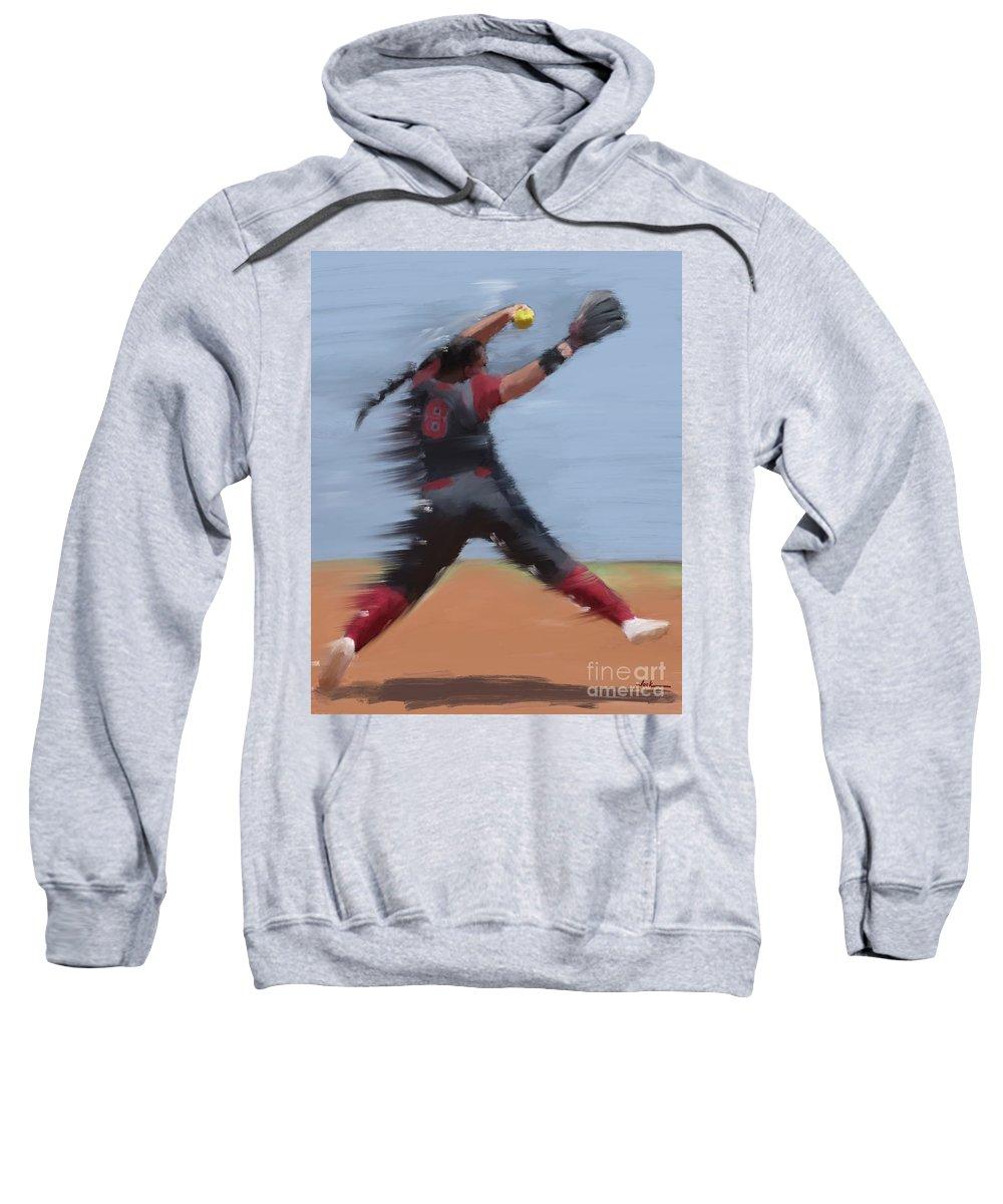 Ou Sweatshirt featuring the painting Paige Parker Ou by Jack Bunds