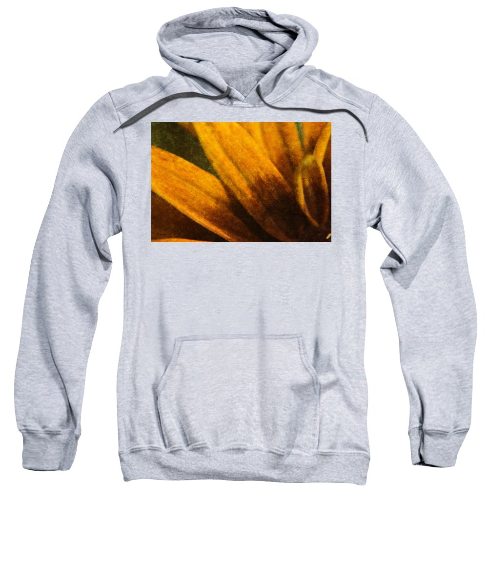 Painted Sweatshirt featuring the digital art Painted Daisy Sunburst by Teresa Mucha