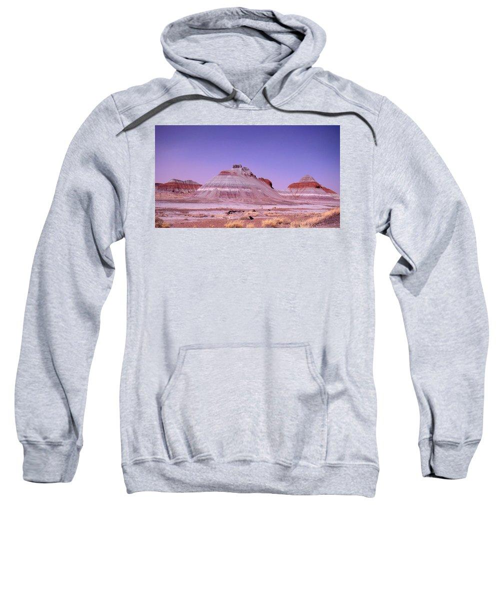 Painted Desert Sweatshirt featuring the photograph Painted Desert Tepees by Merja Waters