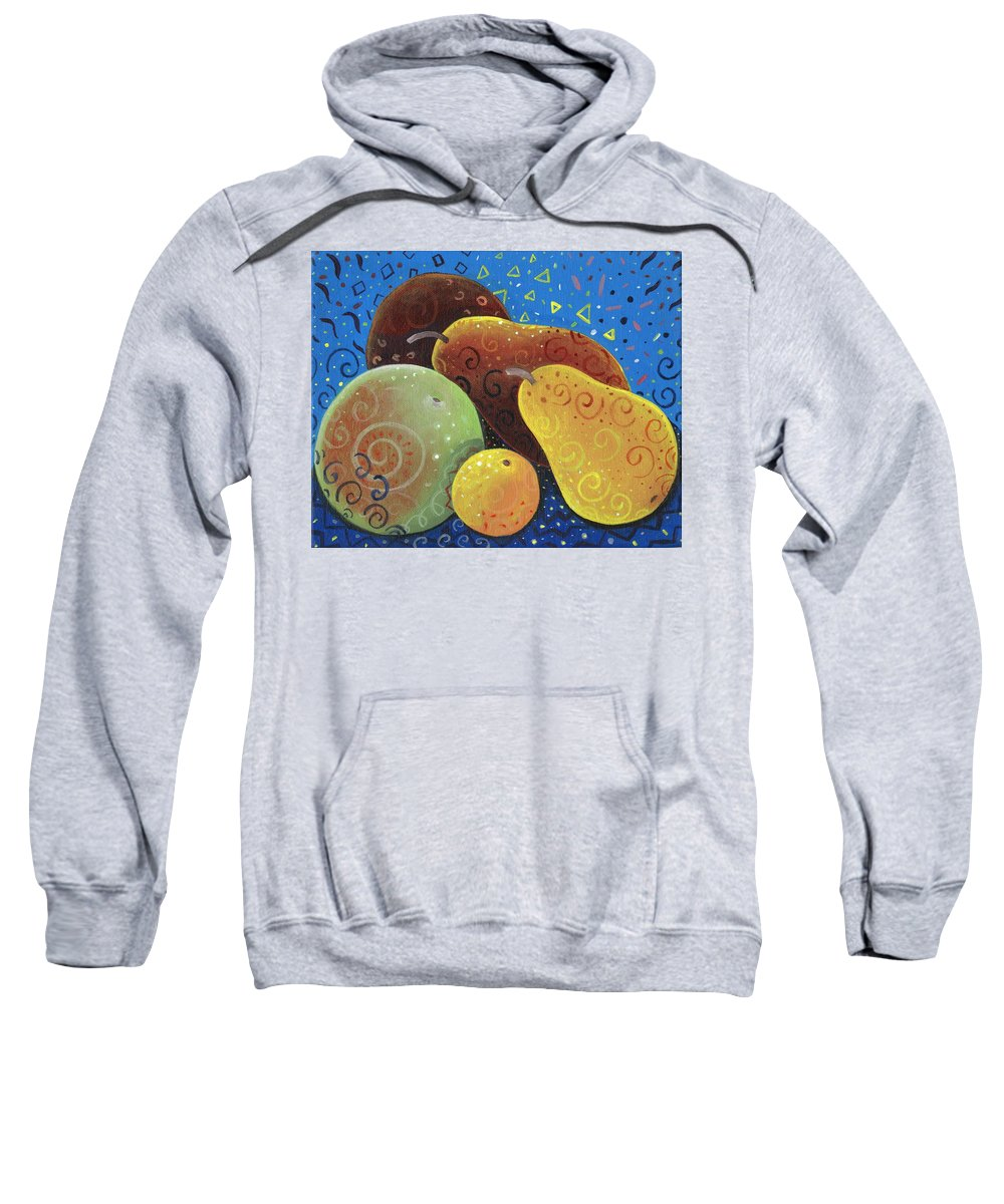 Fruit Sweatshirt featuring the painting Painted Fruit by Helena Tiainen