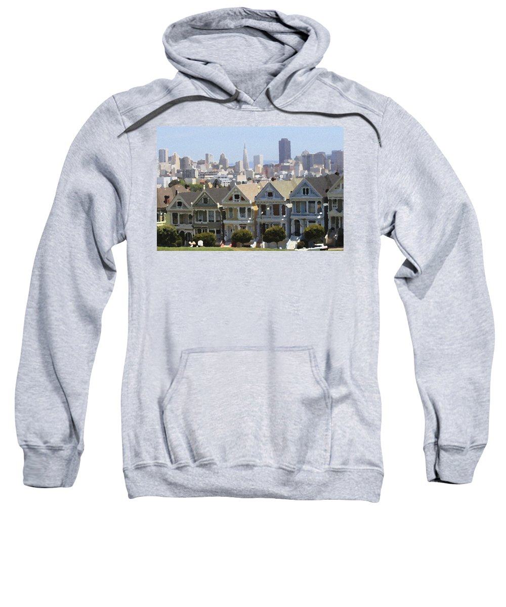 Alamo Sweatshirt featuring the photograph Painted Ladies - Palette Knife by Lou Ford