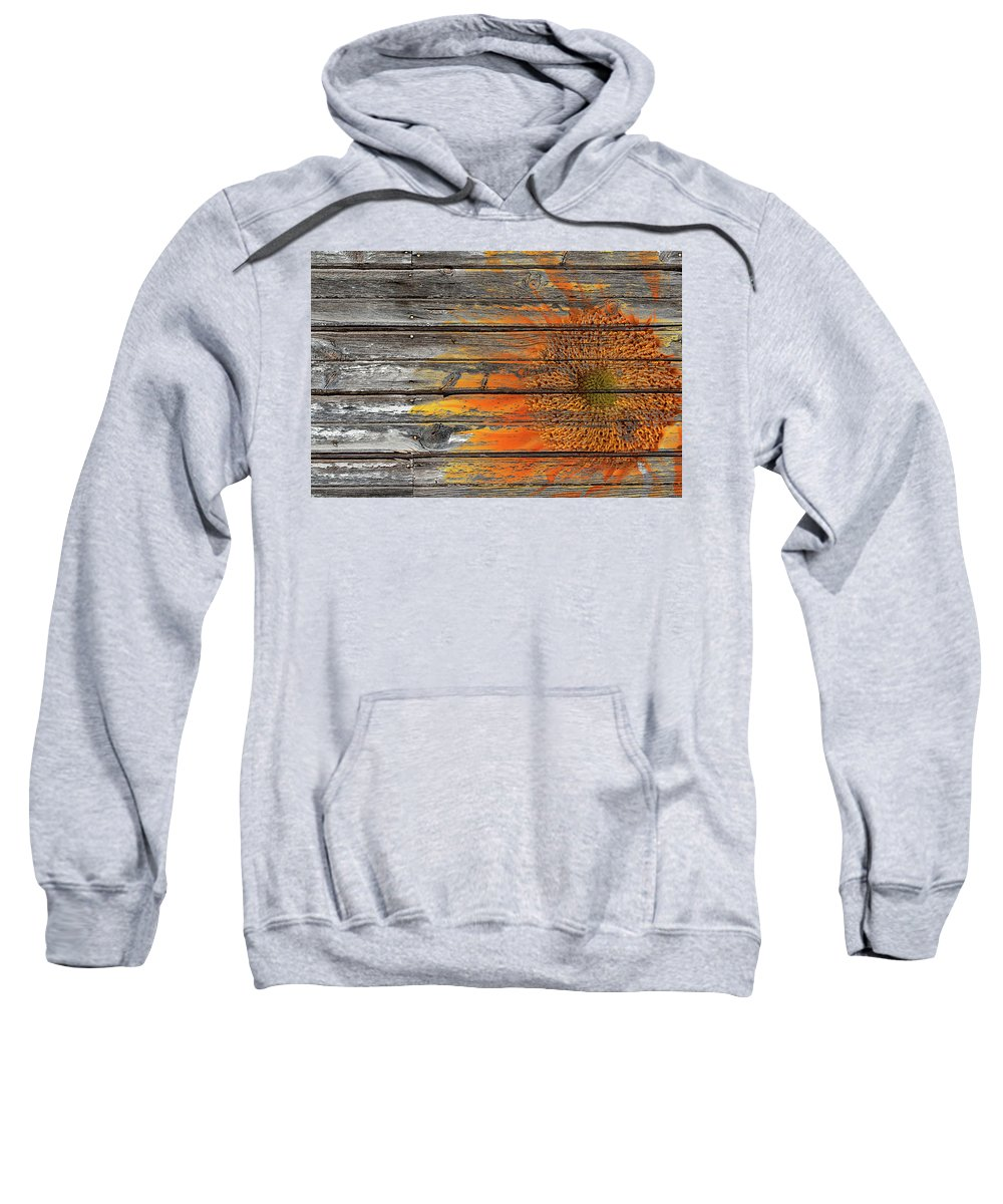 Sunflower Sweatshirt featuring the photograph Painted Sunflower by Phyllis Denton