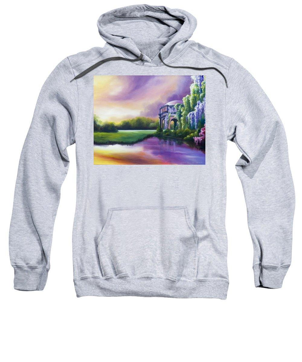 Marsh Sweatshirt featuring the painting Palace Of The Arts by James Christopher Hill