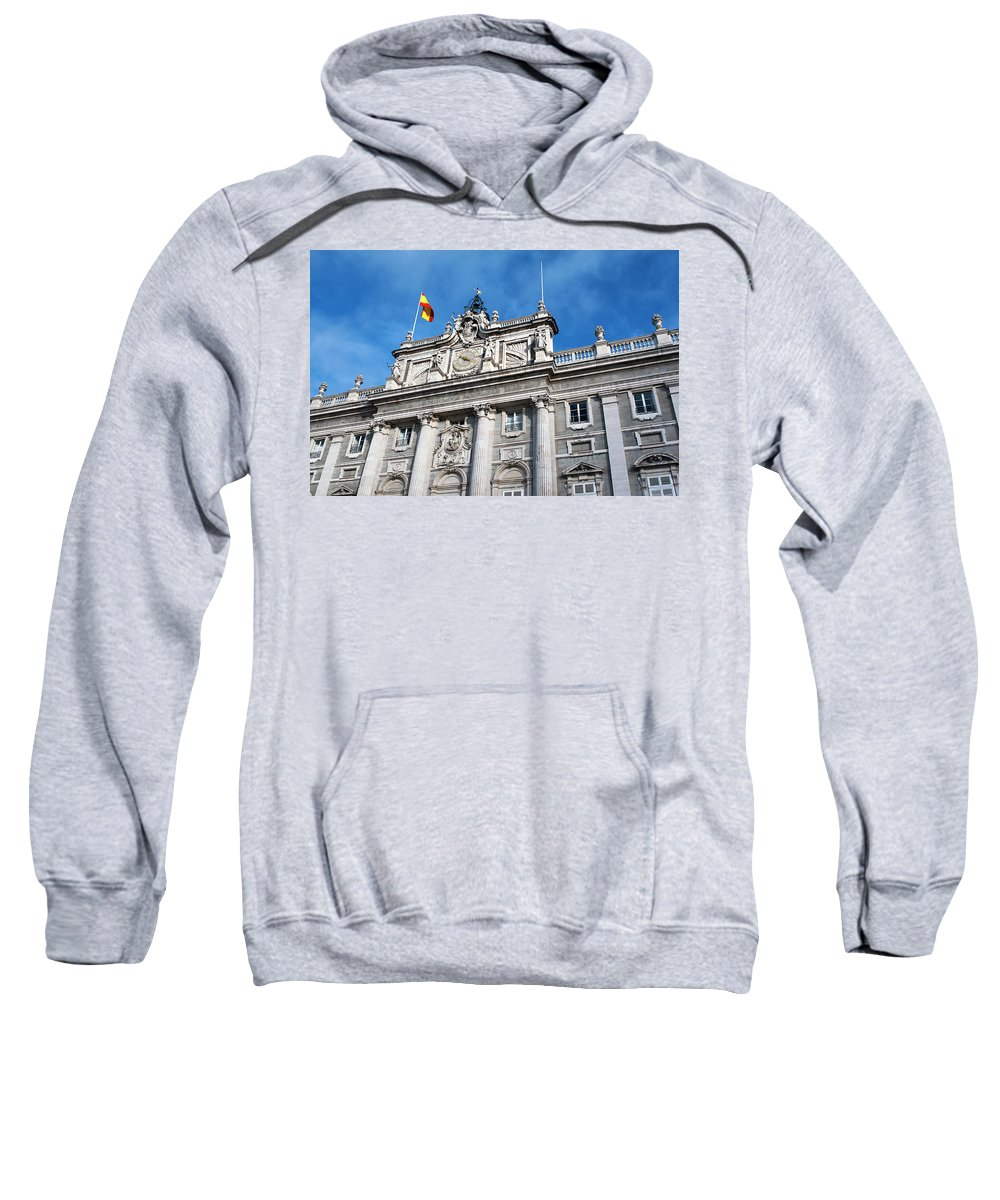 Madrid Sweatshirt featuring the photograph Palacio Real by Lorraine Devon Wilke