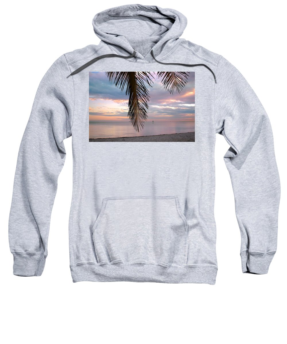 Palm Sweatshirt featuring the photograph Palm Courtain II by Susanne Van Hulst
