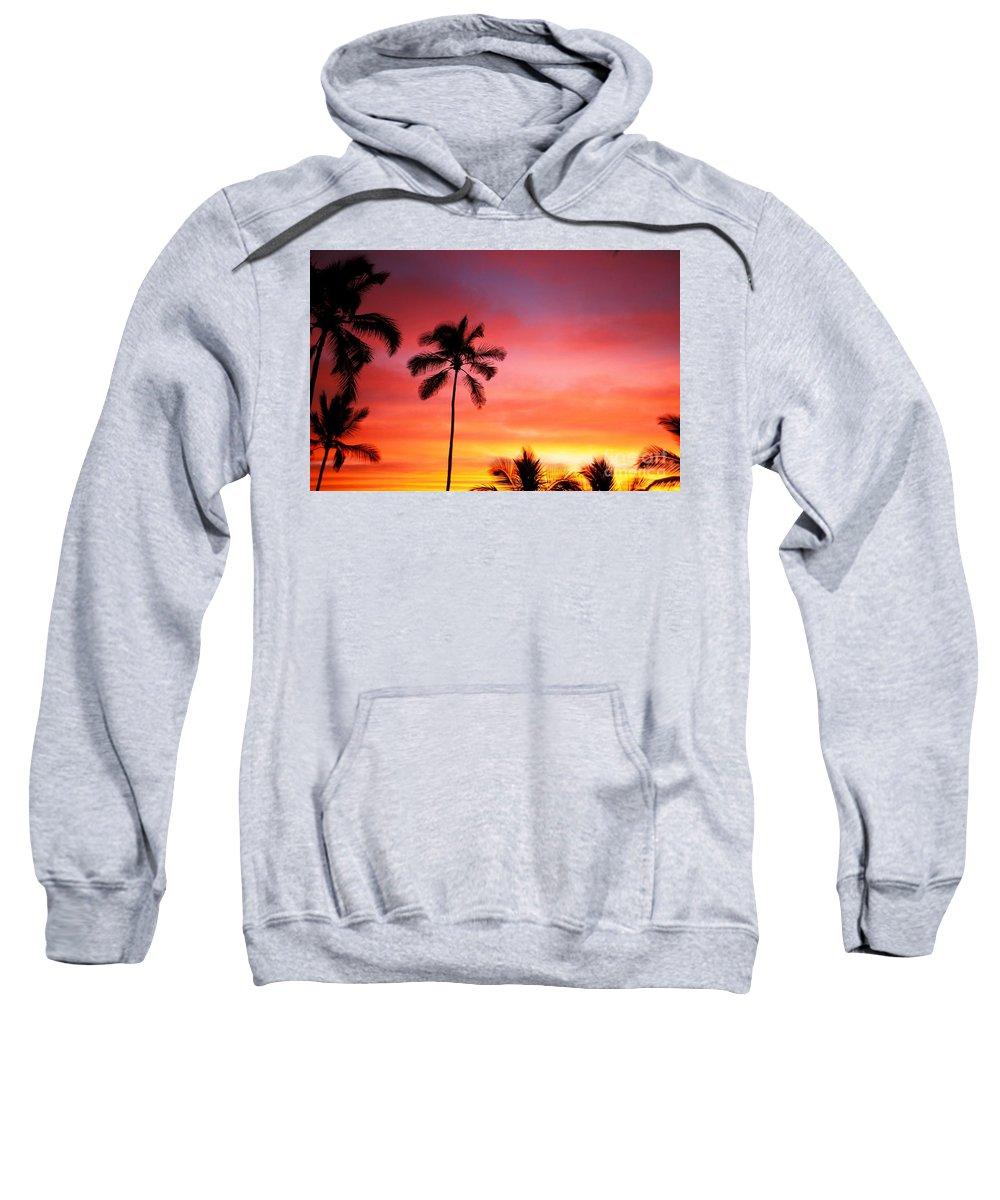 Air Art Sweatshirt featuring the photograph Palm Silhouettes by Dana Edmunds - Printscapes