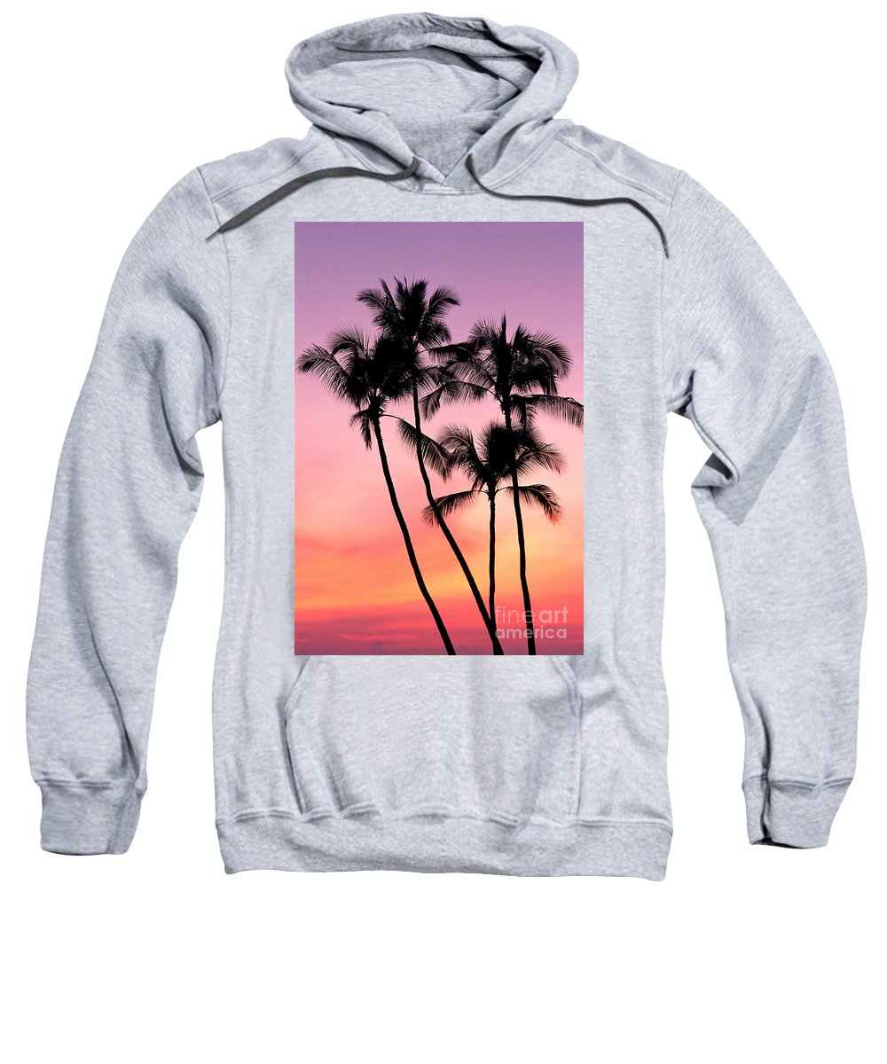 Amaze Sweatshirt featuring the photograph Palms At Sunset by William Waterfall - Printscapes