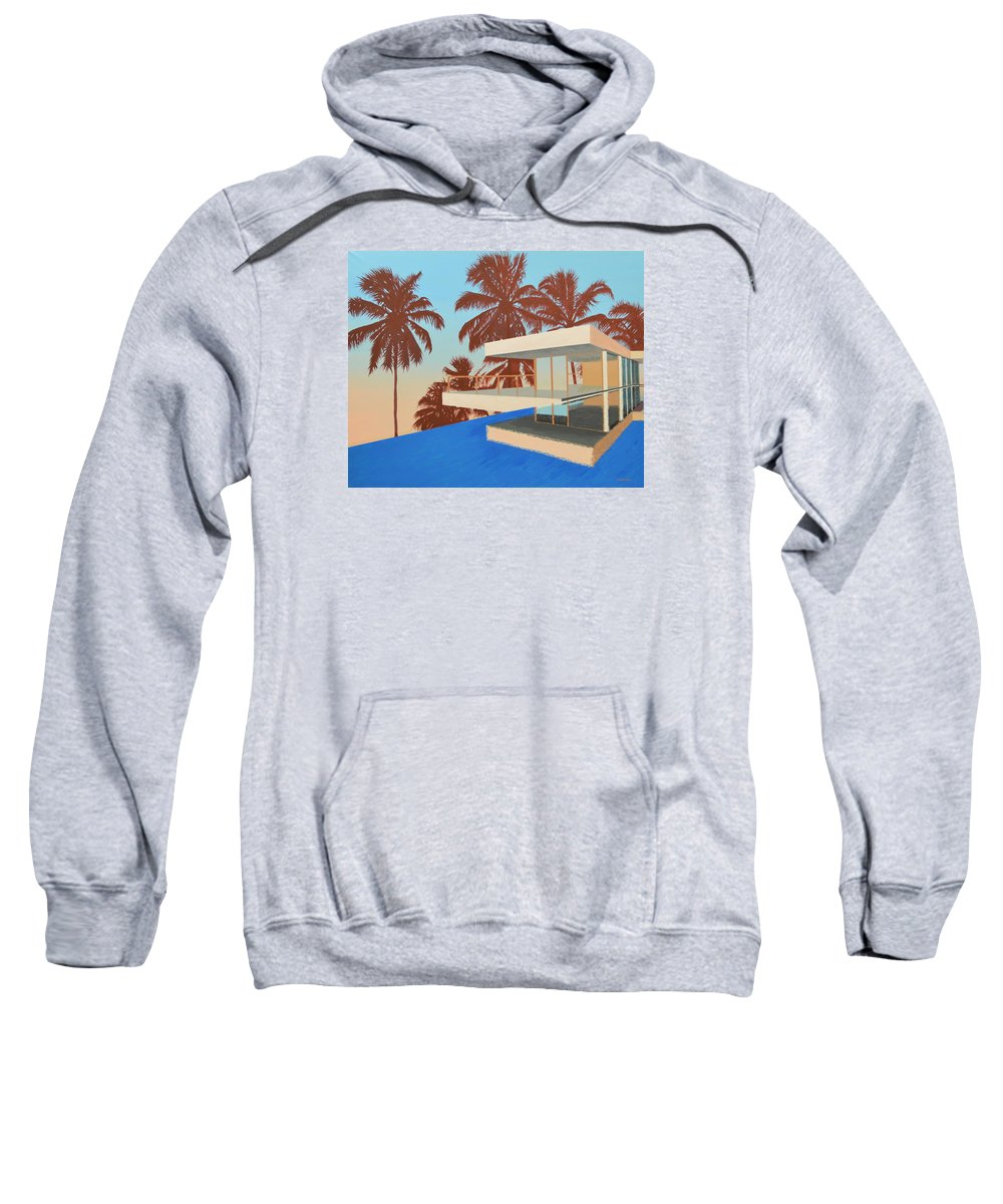 House Sweatshirt featuring the painting Palms On The Edge by Slade Hartwell