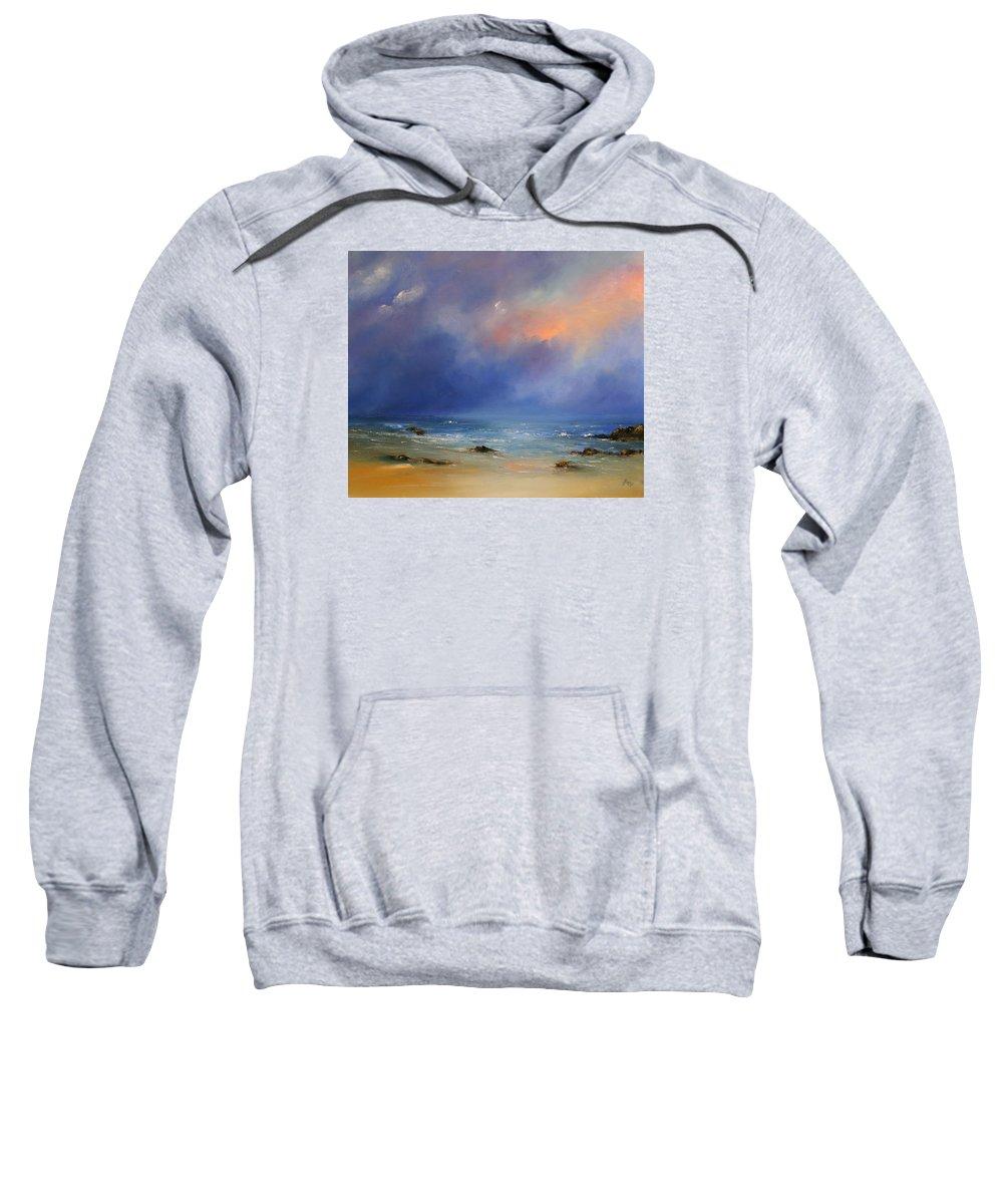 Seascape Sweatshirt featuring the painting Pan De Azucar I by Petra Ackermann