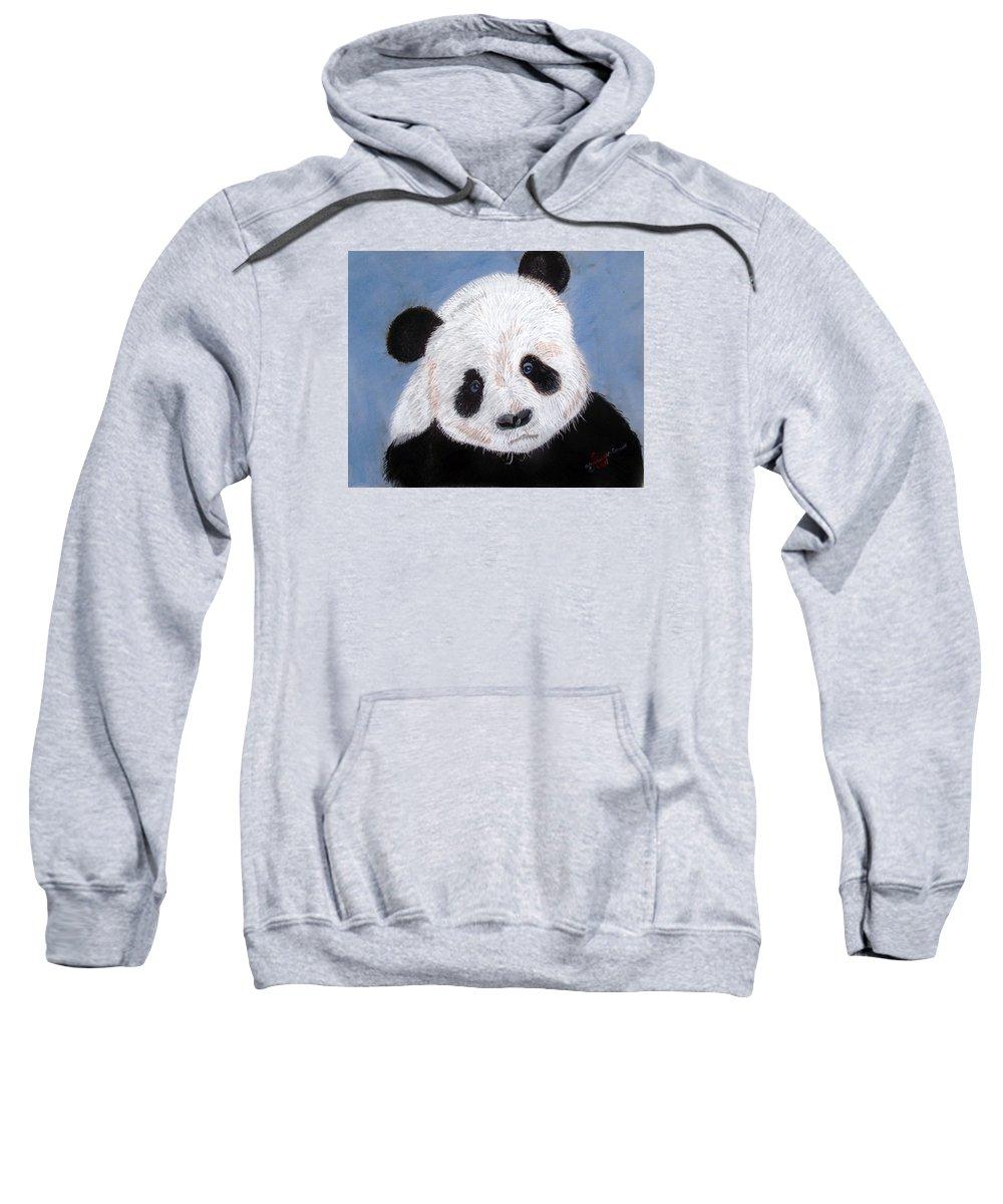 Pandas Sweatshirt featuring the pastel Panda by Arlene Wright-Correll
