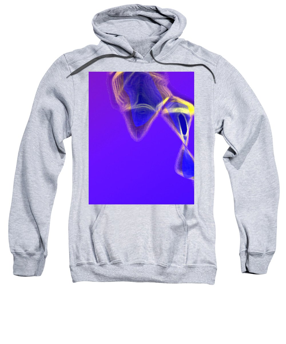 Abstract Sweatshirt featuring the digital art Panel One From Movement In Blue by Steve Karol