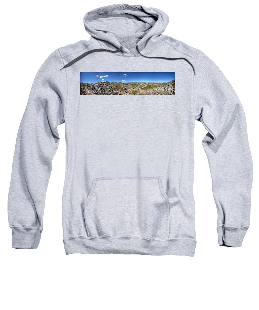 Colorado Sweatshirt featuring the photograph Panorama Looking Down Elk Creek From The Continental Divide - Weminuche Wilderness by Bruce Lemons