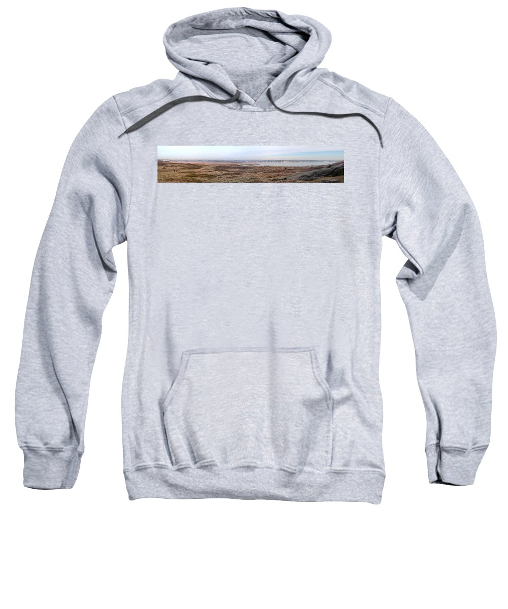 Christchurch Sweatshirt featuring the photograph Panorama Of Christchurch Harbour by Chris Day