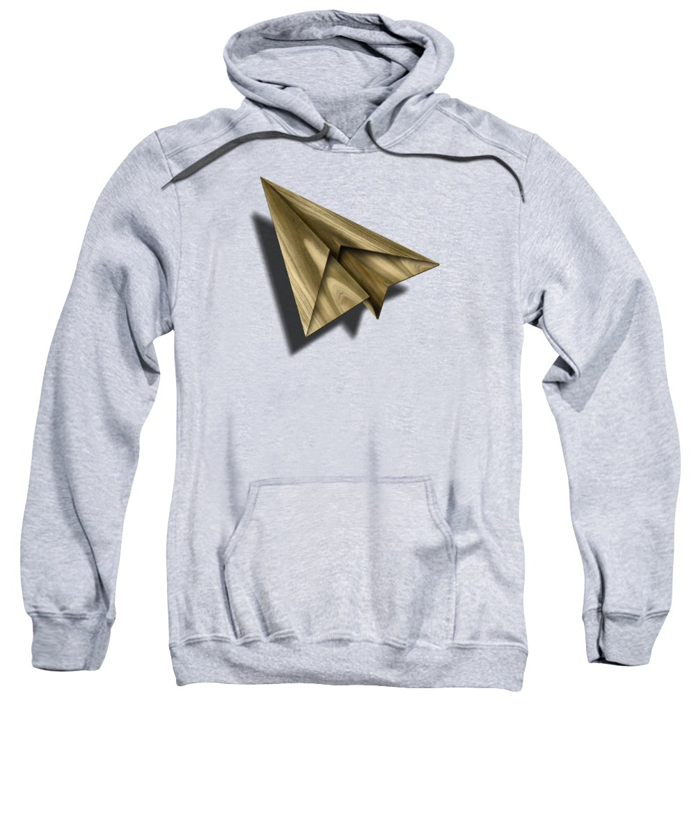 Aircraft Sweatshirt featuring the photograph Paper Airplanes of Wood 18 by YoPedro