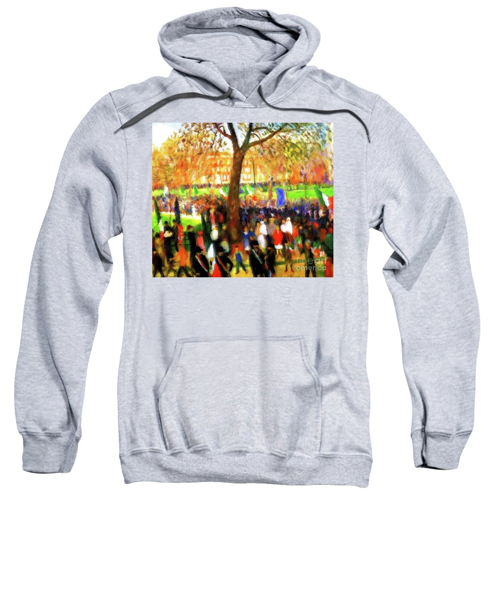 Parade Sweatshirt featuring the painting Parade by D Fessenden