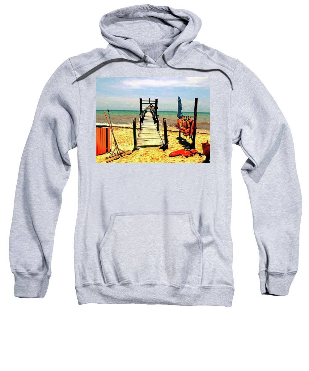 Sweatshirt featuring the photograph Paradise Beach by Absorb Productions