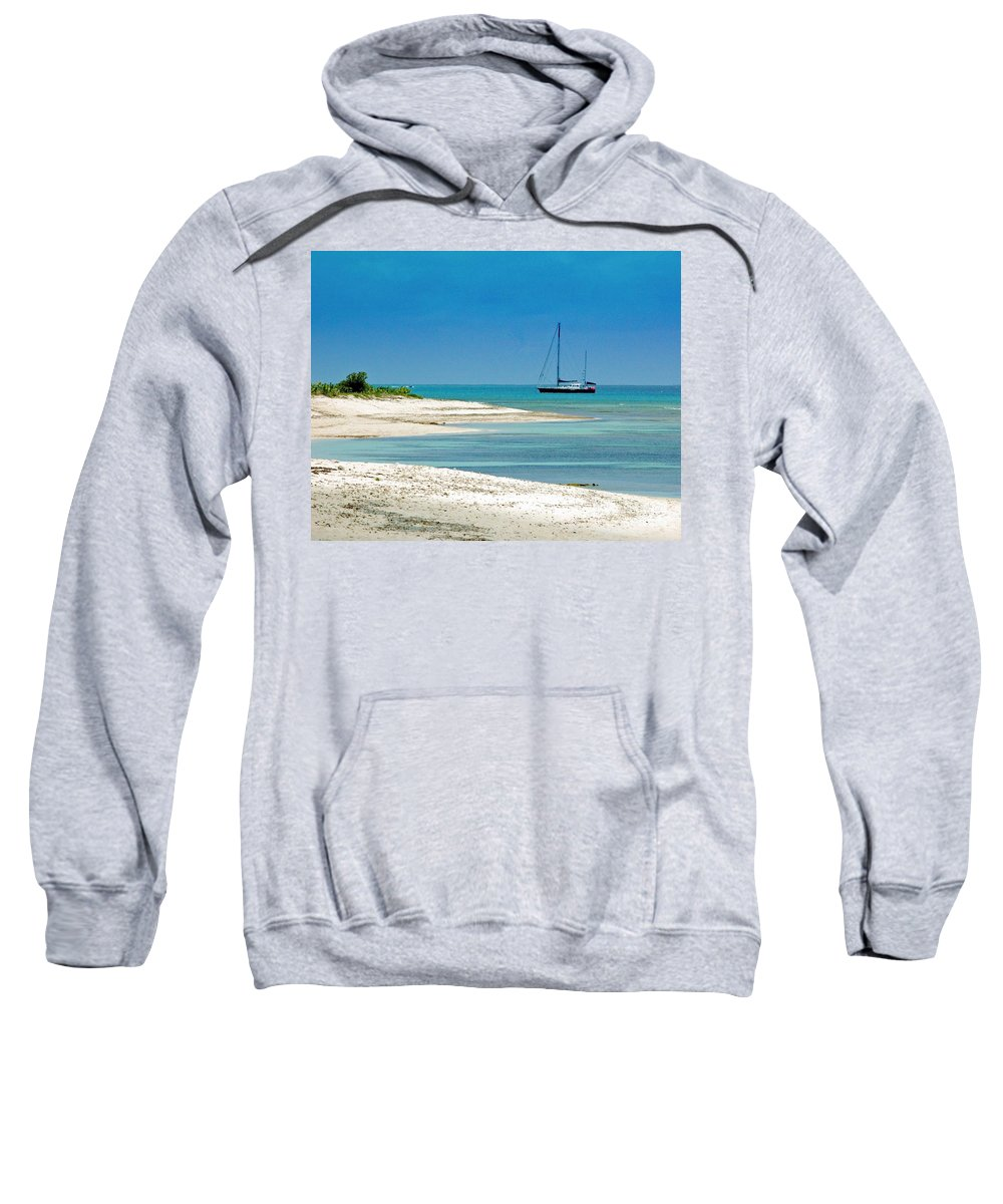 Boat Sweatshirt featuring the photograph Paradise Found by Debbi Granruth