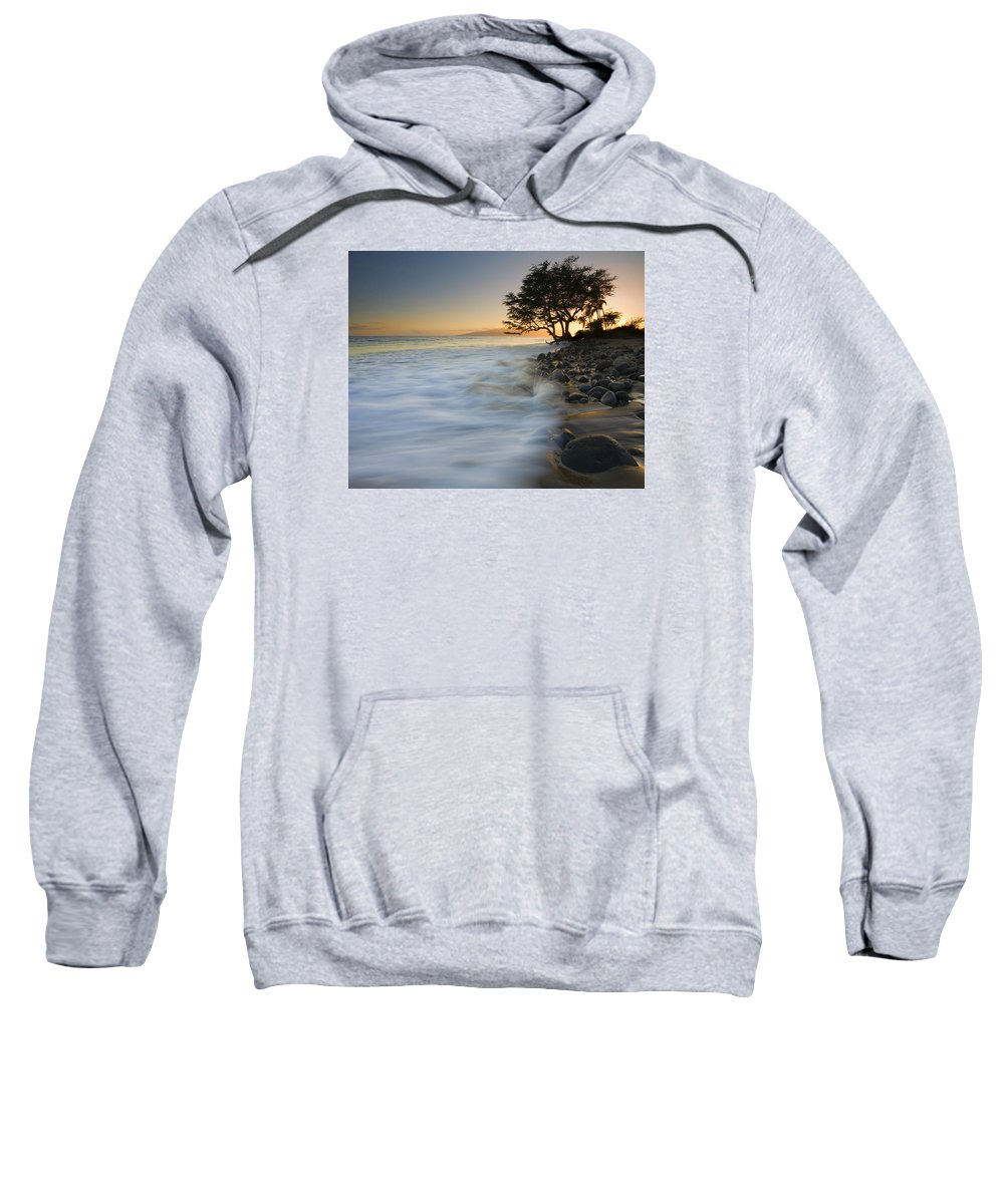 Sunset Sweatshirt featuring the photograph Paradise Gold by Mike Dawson