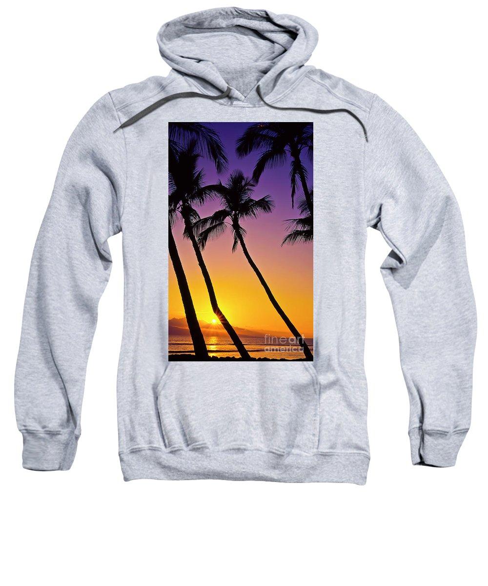 Sunset Sweatshirt featuring the photograph Paradise by Jim Cazel