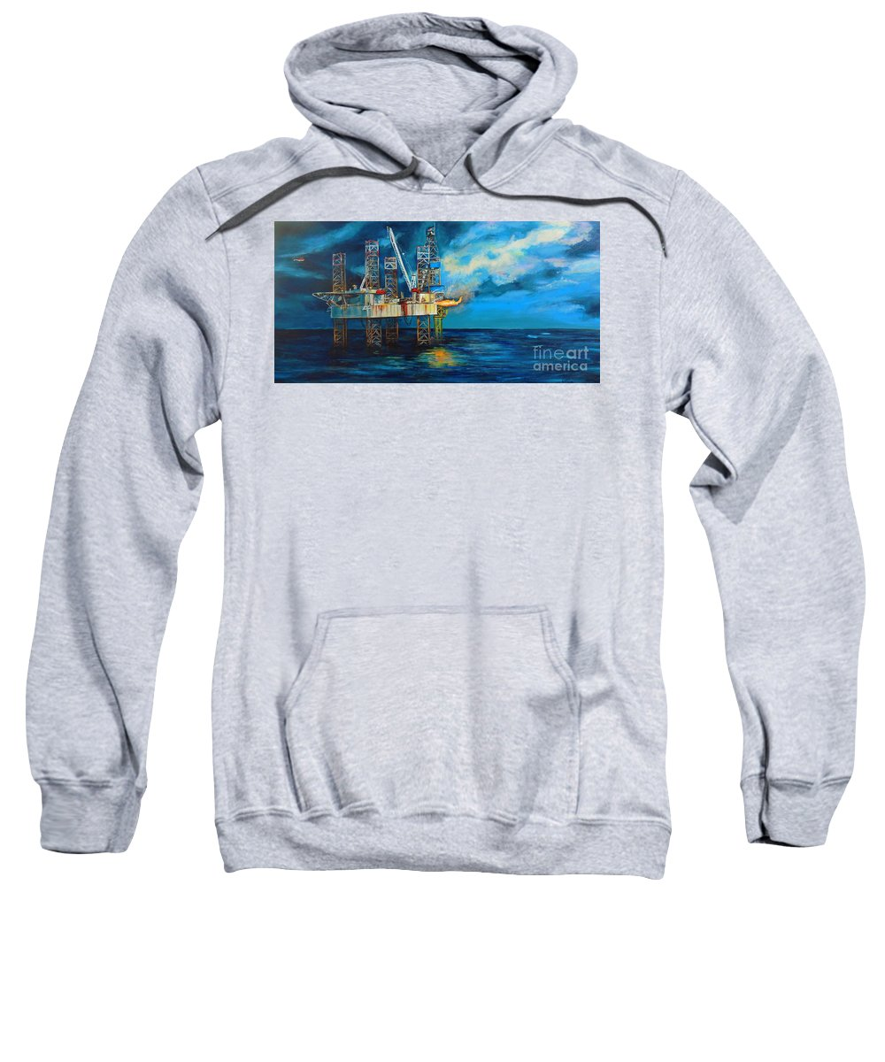 Paragon Hz1 Sweatshirt featuring the painting Paragon Hz1 by Cami Lee