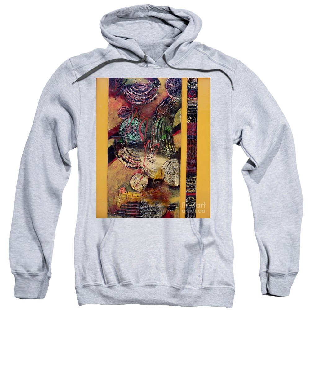 Abstract Art Sweatshirt featuring the painting Parallel Universe by Donna Frost