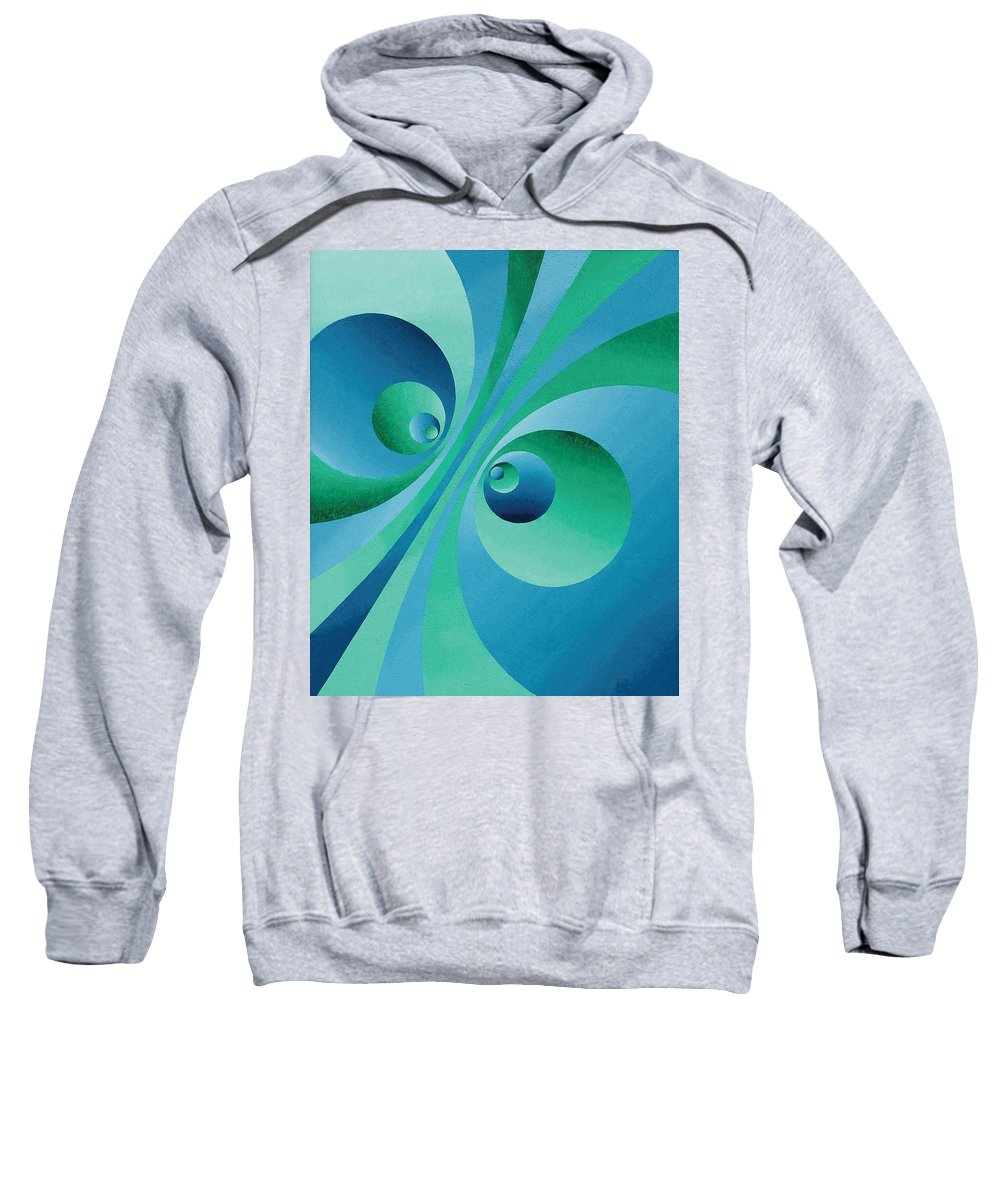 Oil Sweatshirt featuring the painting Parallel Universes by Peter Antos