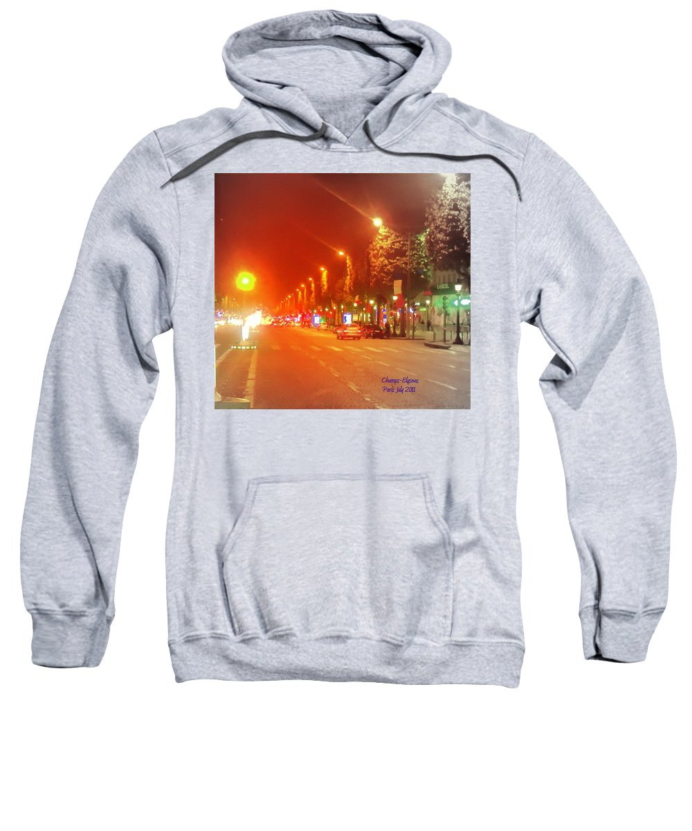 Champs-elysees Sweatshirt featuring the photograph Paris Champs-elysees by Donald Harrison