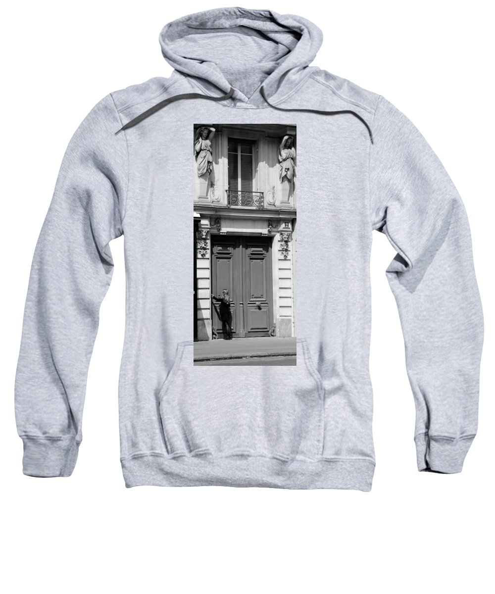 Streets Of Paris Sweatshirt featuring the photograph Paris Street Life 3b by Andrew Fare