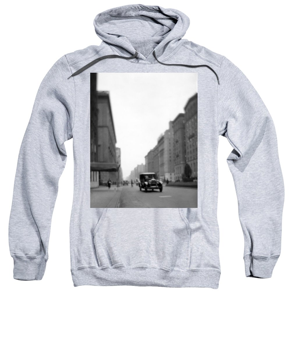 1920s Sweatshirt featuring the photograph Park Avenue In Ny by Underwood Archives