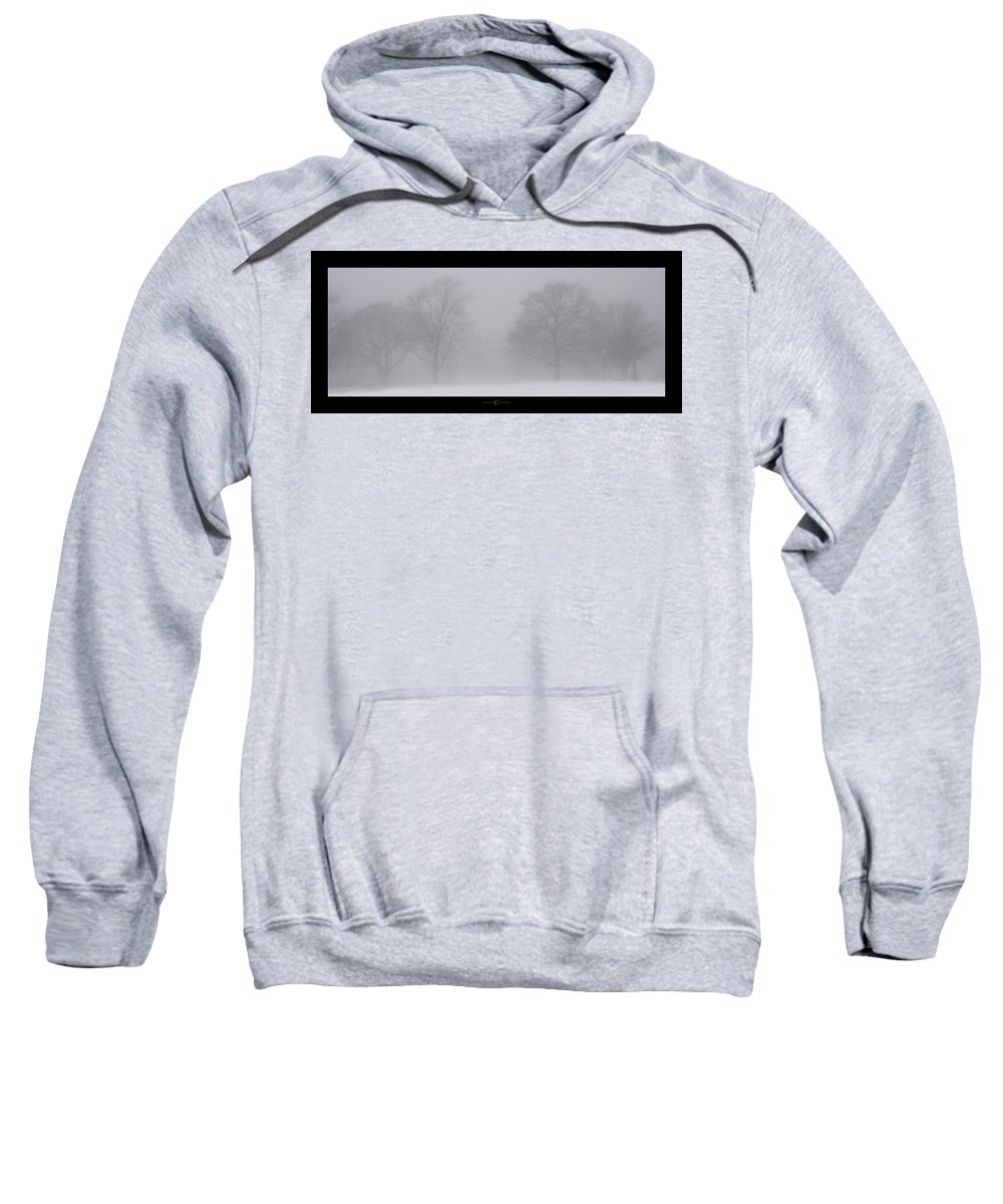 Fog Sweatshirt featuring the photograph Park In Winter Fog by Tim Nyberg