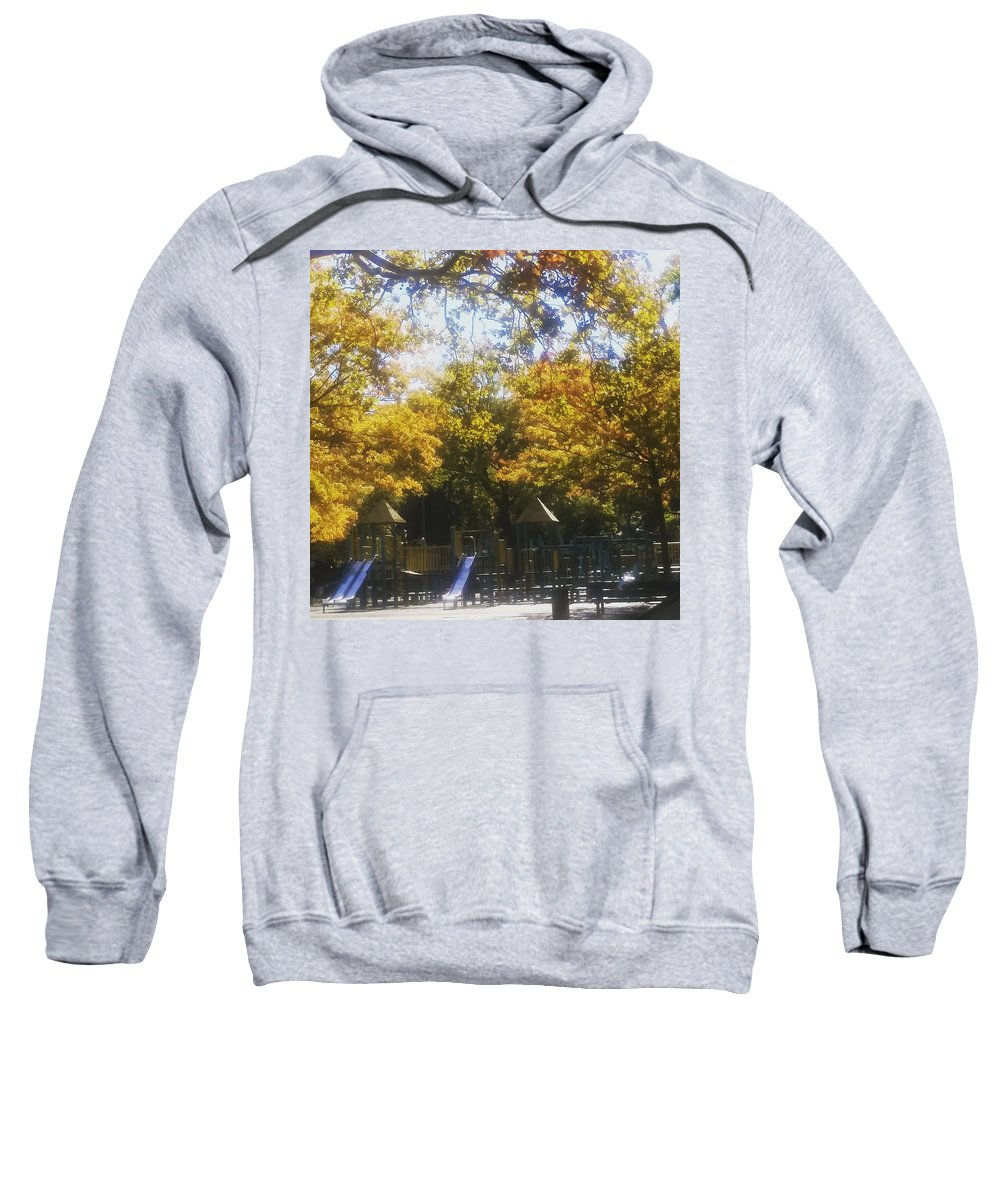 Photo Sweatshirt featuring the photograph Park Slide by Hope Bowie-Jones