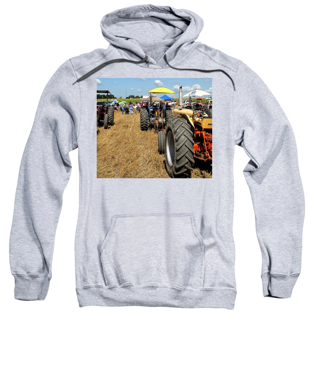 Tractors Sweatshirt featuring the photograph Parking For Lunch by Ian MacDonald