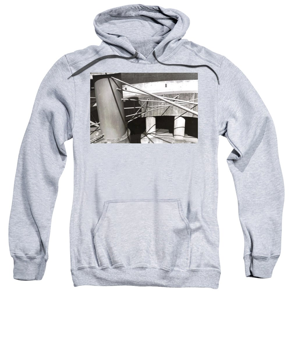 Black And White Photograph Sweatshirt featuring the photograph Parking Garage by Thomas Valentine