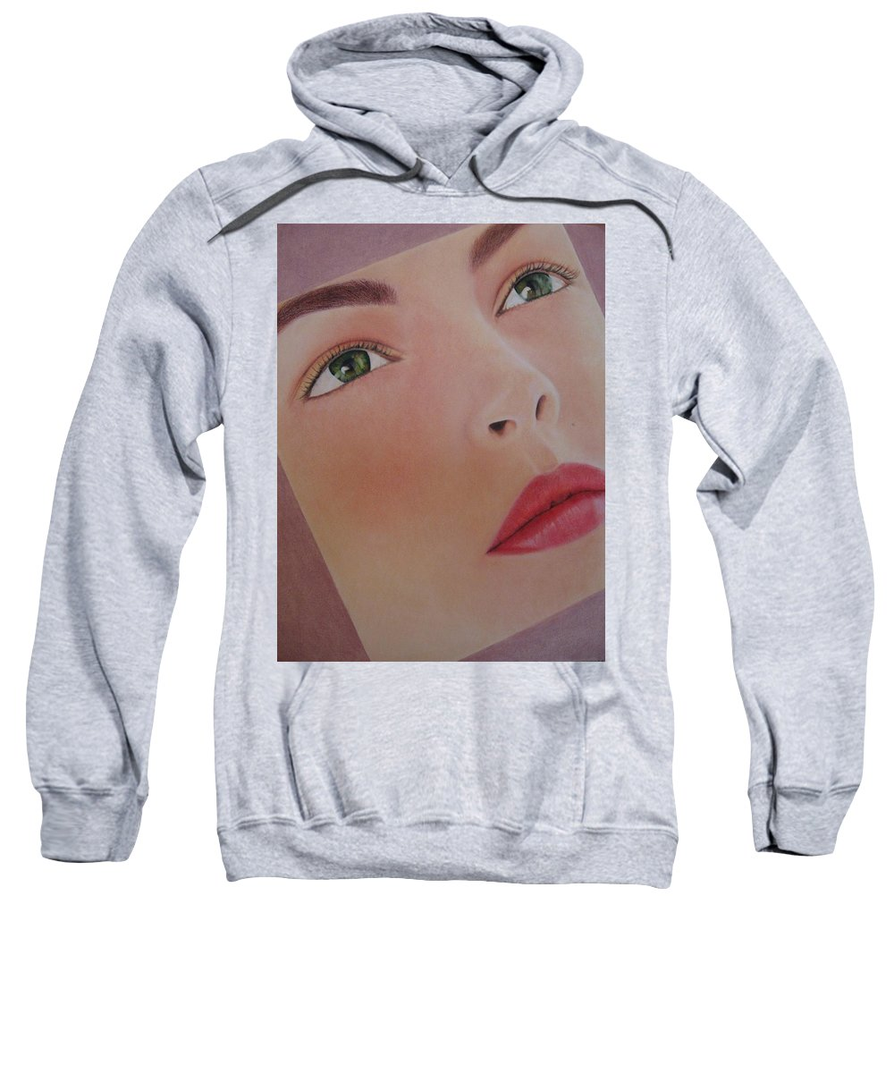 Woman Sweatshirt featuring the painting Part Of You 1 by Lynet McDonald