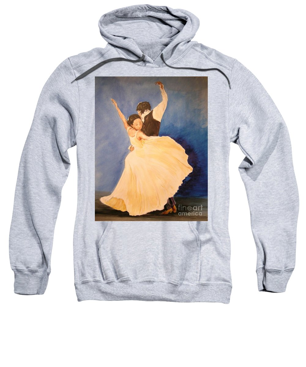 Spain Sweatshirt featuring the painting Pasion Gitana by Lizzy Forrester