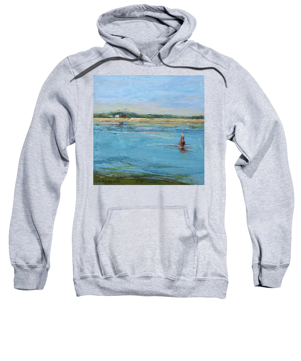 Channel Sweatshirt featuring the painting Passing Through by Lisa H Ridabock