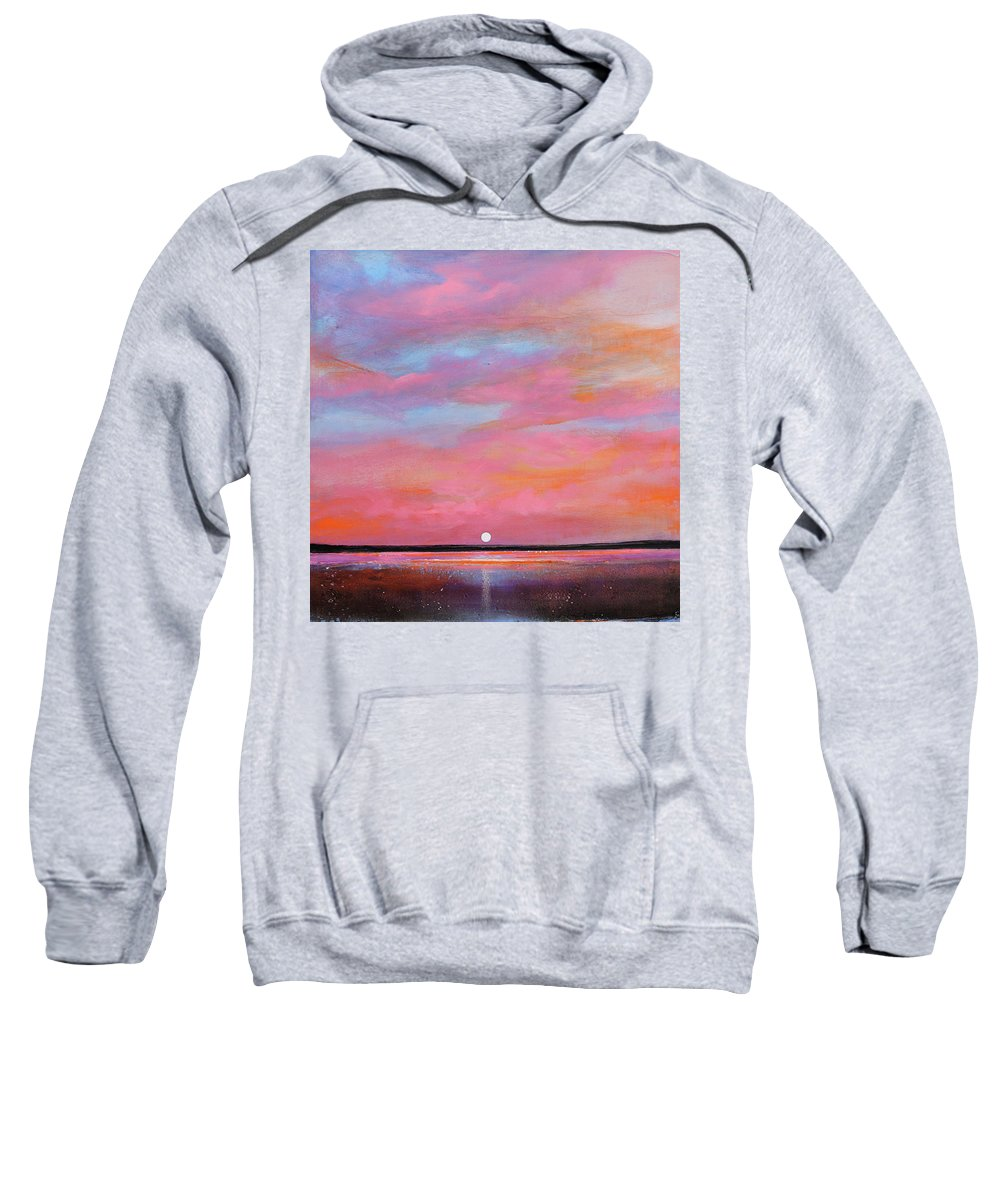 Sunrise Sweatshirt featuring the painting Passion Beach by Toni Grote