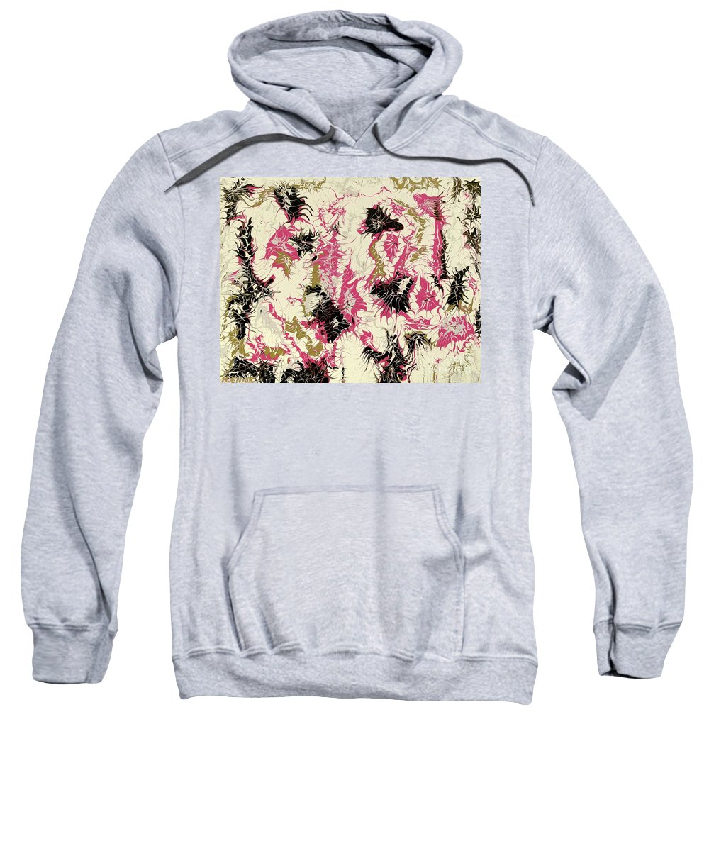 Keith Elliott Sweatshirt featuring the painting Passion Party - V1cfs100 by Keith Elliott