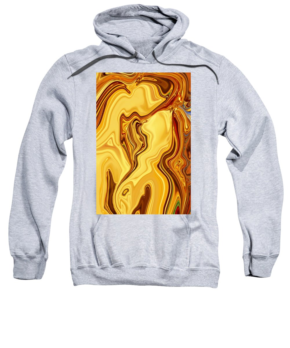 Abstract Sweatshirt featuring the digital art Passion by Rabi Khan
