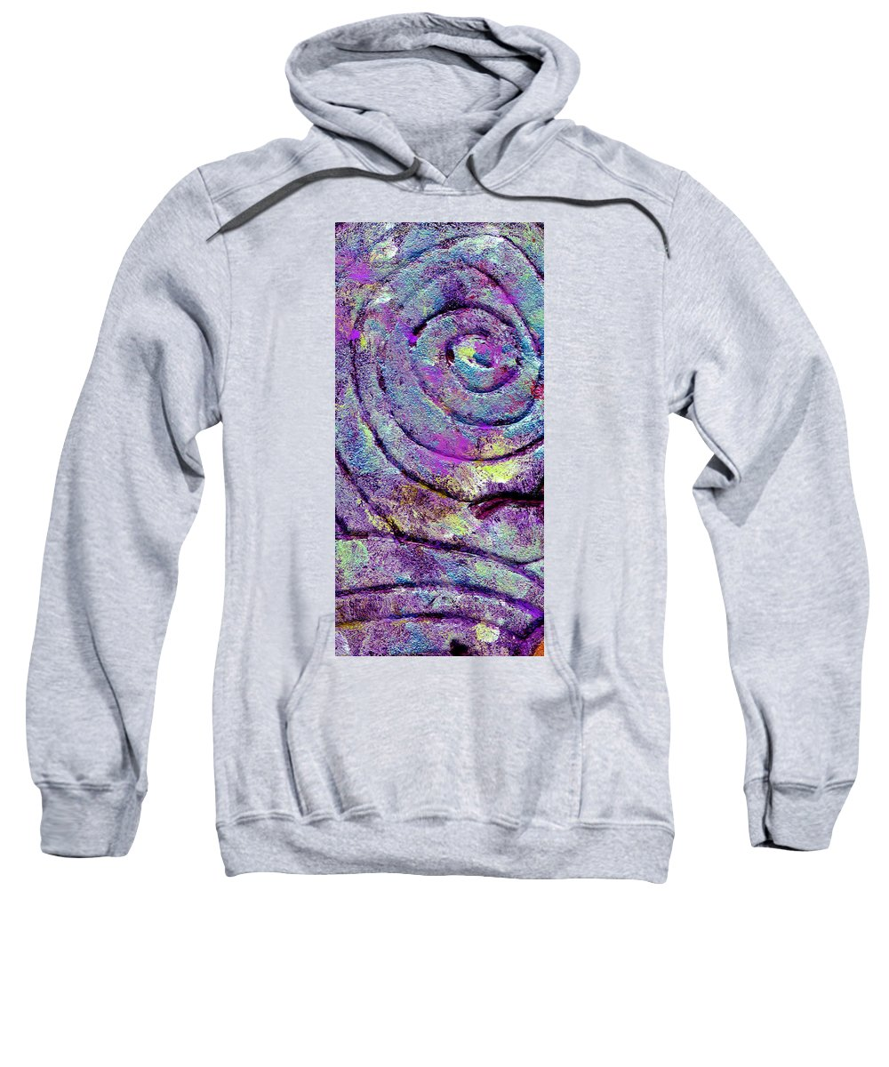 Abstract Sweatshirt featuring the painting Passionate Swirl by Wayne Potrafka