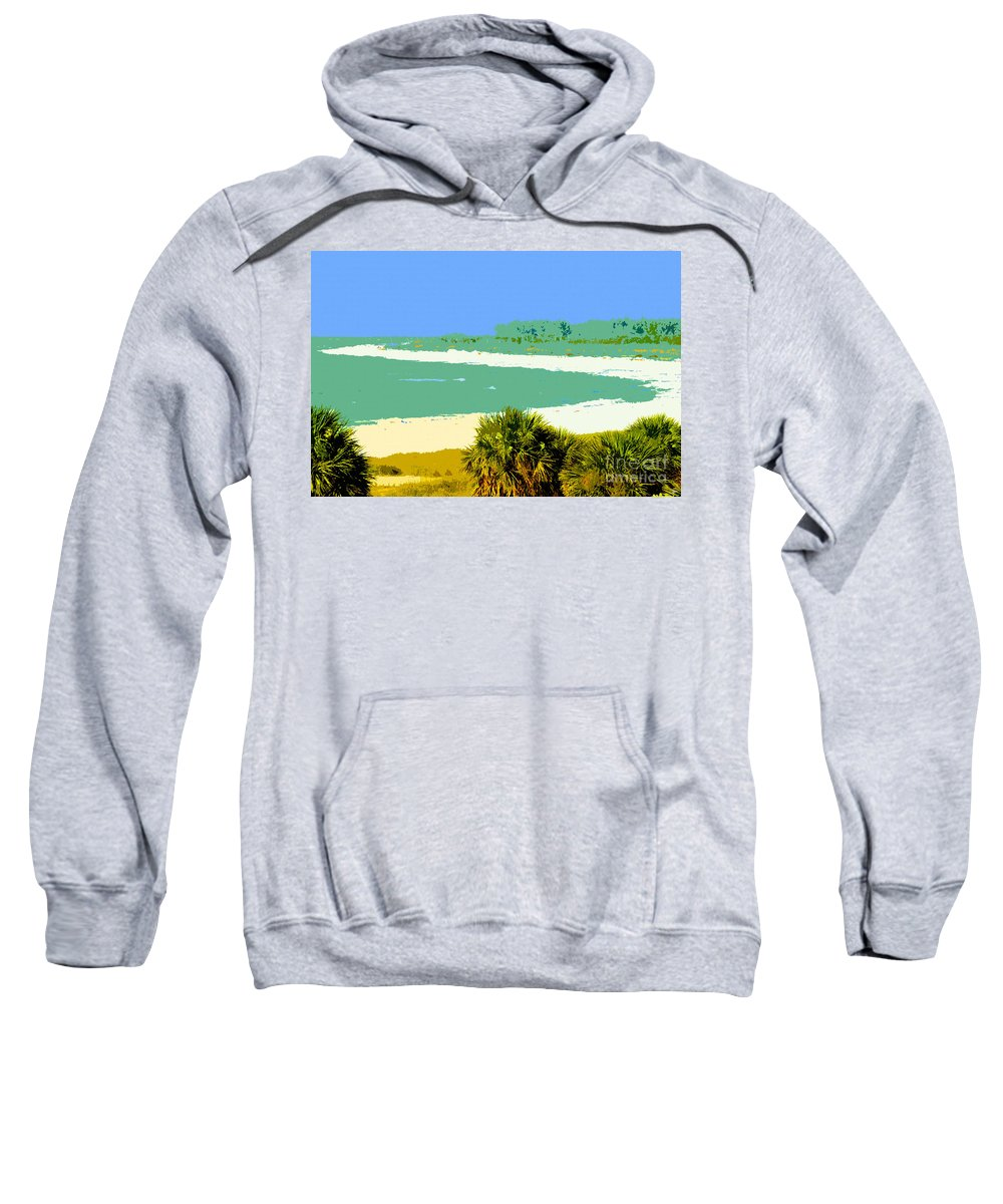 Art Sweatshirt featuring the painting Pastel Beach by David Lee Thompson