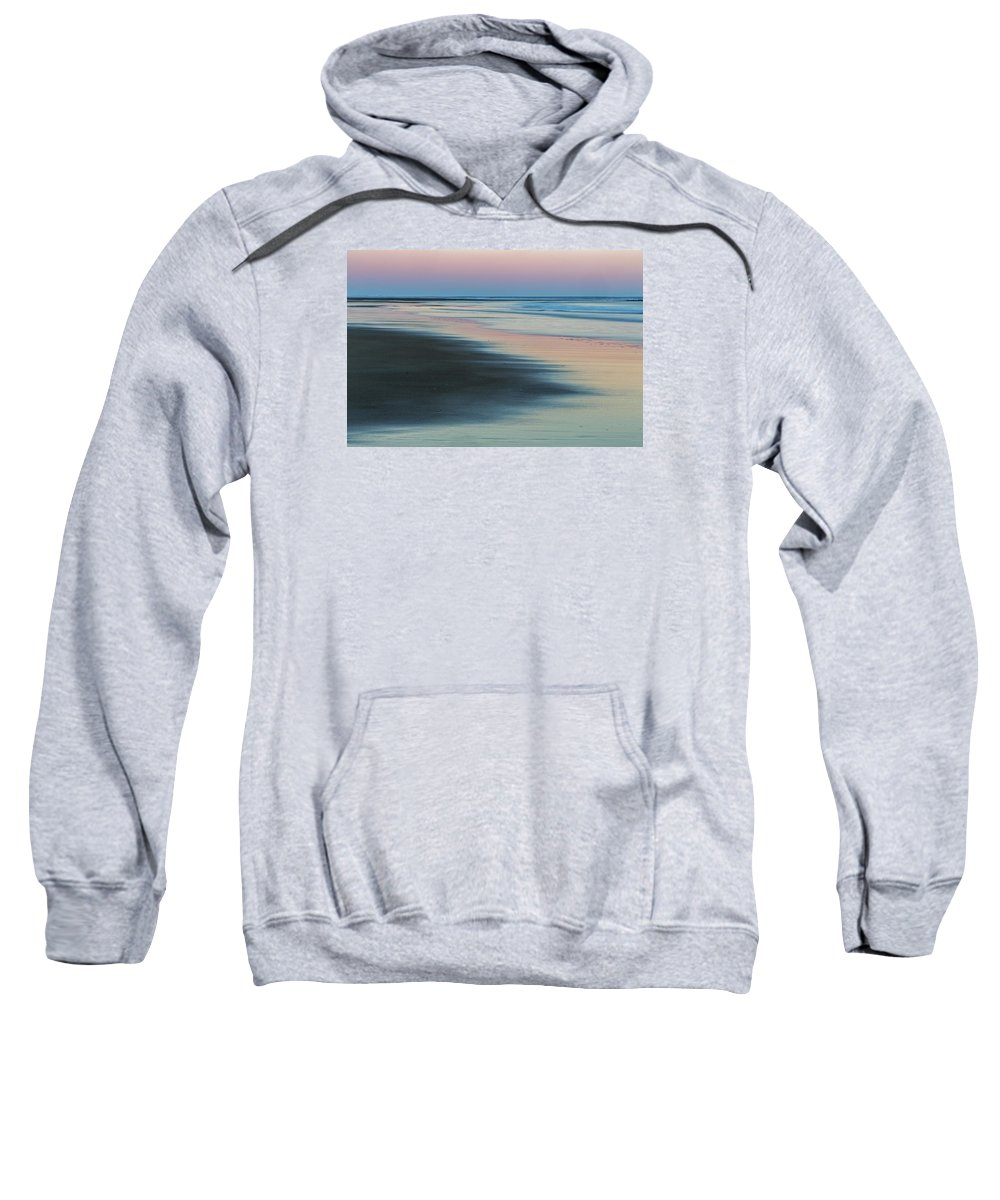 New England Sweatshirt featuring the photograph Pastel Dawn On Plum Island Sands by Scott Snyder
